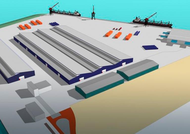 Opslaghallen Rhenus Logistics, Maasvlakte